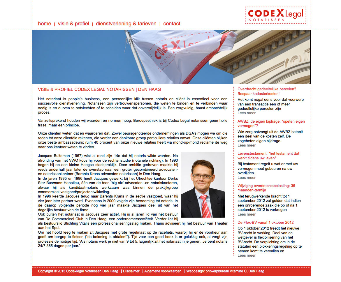 website laten maken den haag codex legal